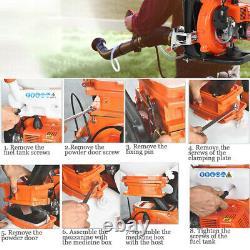 3.5 Gallon 3-en-1 65cc 3hp 2stroke Backpack Fogger Blower Duster Leaf Blower Set