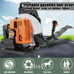 3hp Haute Performance Gaz Alimenté Back Pack Leaf Blower 2-stroke 63cc