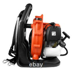 42.7cc Full Crank 2-cycle Gas Engine Backpack Leaf Blower 423cfm 175 Mph Avec Tube