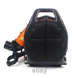 42.7cc Gas Leaf Backpack Powered Debris Blower 2 Stroke+padded Harness 720/h États-unis