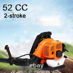 52cc 2-strokes Commercial Gas Leaf Blower Backpack Soupled Backpack Fonctionnant À L'essence