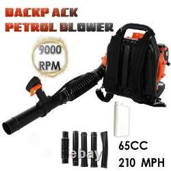 63cc 2,3ch 2-stroke Gas Powered Back Pack Souper De Feuille Haute Performance Us