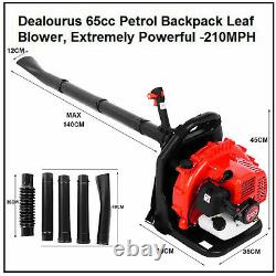 63cc 2.3hp High Performance Gas Powered Back Pack Slower 2-stroke Red