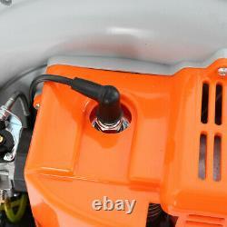 63cc 2-stroke 3ch Haute Performance Gaz Powered Back Pack Feuille Blower Us Stock