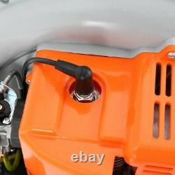 63cc 2-stroke 3hp Gas Powered Back Pack Leaf Blower Haute Performance