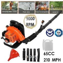 63cc 3.2hp 2stroke Gas Backpack Leaf Blower Powered Debris Rembourré Harness 1.7l