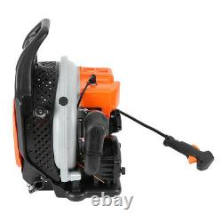 63cc 3.2hp High Performance Gas Powered Back Pack Leaf Blower 2 Stroke Orange Us