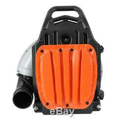 63cc 3hp Gaz Haute Performance Powered Back Pack Souffleuse 2 Stroke Orange Etats-unis