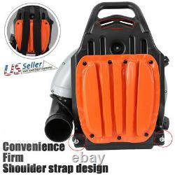 63cc 3hp High Performance Gas Powered Back Pack Fleet Blower 2-stroke Orange USA