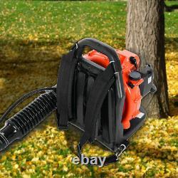 65cc 3.2hp 2-stroke Gas Powered Backpack Débris De Soufflante À Feuilles Rembourrées-harness 2.3kw