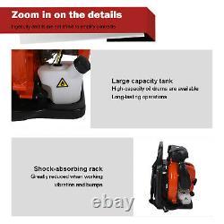 80cc 2-stroke Back Pack Blower Feuille Haute Performance Gaz Alimenté 2.3l Us Stock