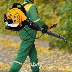 80cc 2-temps Sac À Dos Powerful Leaf Blower Motor Gas 850cfm New Us