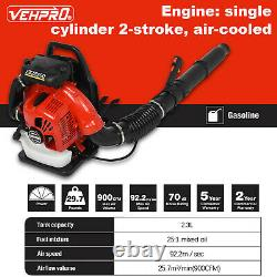 80cc 3.5kw 2-stroke High Performance Gas Powered Back Pack Feuille Blower Us Stock