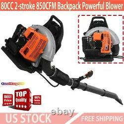 80cc Sac À Dos 2 Temps Powerful Blower Leaf Blower Motor Gas 850cfm Us