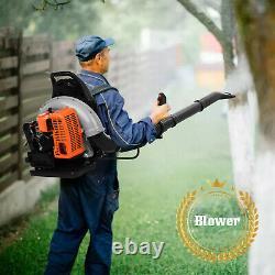 80cc Sac À Dos À 2 Temps Powerful Blower Leaf Blower Motor Gas 850 Cfm