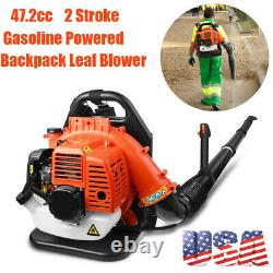 American Commercial Backpack Leaf Blower Gas Powered Grass Lawn Blower 2-stroke 42.7cc