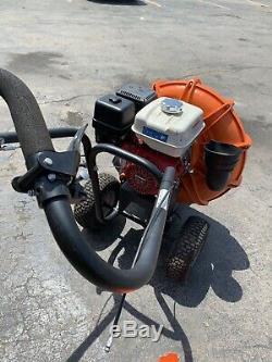 Billy Goat Gas Walk Derrière Parking Et Souffleur De Feuilles Moteur Honda Power 13hp