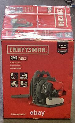 Craftsman Cmxgaah46bt 46cc 2-cycle Gas Backpack Blower Brand New