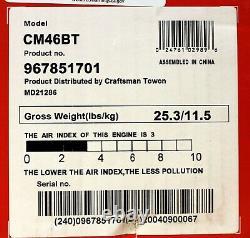 Craftsman Gas 2 Cycle 46cc Souple Sac À Dos Cmcxgaah46bt (neuvième Niveau Gratuit)