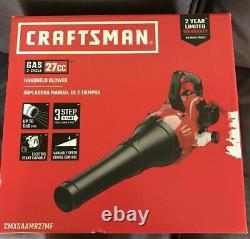 Craftsman Leaf Blower Modèle B225 650 Cfm 135 Mph 27cc, 2-cycle Gaz Cmxgaamr27mf
