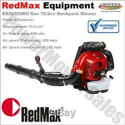 Ebz8500rh Redmax Commercial Gas 75.6 CC 206mph Souffleur De Feuilles À Dos