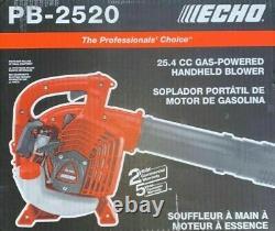 Echo 170 Mph 453 Cfm 25.4 CC Gas 2-stroke Cycle Handheld Leaf Blower Pb-2520 Nouveau