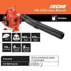 Echo 170 Mph 453 Cfm 25.4cc Gaz 2 Temps De Cycle De Poche Souffleuse
