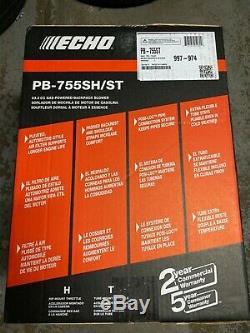 Echo Backpack Souffleuse Pb755sh-st 63.3cc Gaz Pb755st 233 Mph Pb755sh Nouveau