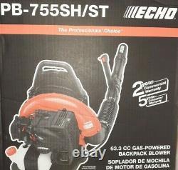 Echo Gas Powered Back Pack Leaf Blower 63.3cc Pb-755sh/st Lire La Description