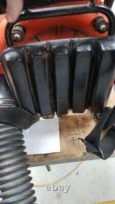 Echo Pb400e Pb 400 Backpack Leaf Blower Fonctionne Brièvement Avec Du Carburant Versé Dans Carb