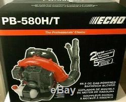 Echo Pb-580h / T 215 Mph 510 Pcm 58.2cc Souffleur De Feuille À Dos À 2 Cycles À Gaz Nouveau