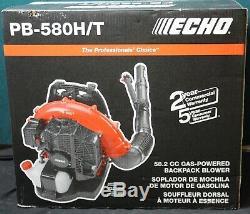 Echo Pb-580ht 216 Mph 517 Cfm 58.2cc Gaz À Cycle 2 Temps Sac À Dos Souffleuse Nouveau