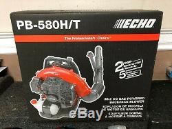 Echo Pb-580ht Sac À Dos Professional Gas Powered Souffleuse 58.2cc Tout Neuf