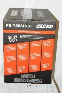 Echo Pb-755sh / St 233 Mph 651 Cfm 63.3cc Gaz 2 Temps De Cycle Sac À Dos Souffleuse