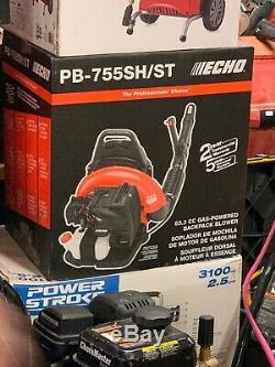 Echo Pb-755sh / St Cfm 63.3cc Gaz Cycle 2-stroke 233 Mph Sac À Dos Feuille Nib Blower