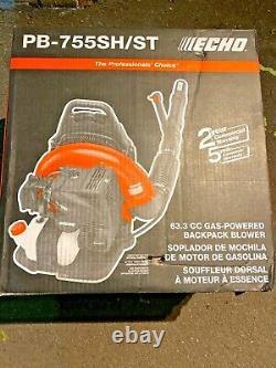 Echo Pb-755sh/st Feuille De Sac À Dos Blower Gas Pb755st 233 Mph 2 Temps Nouveau 63,3cc