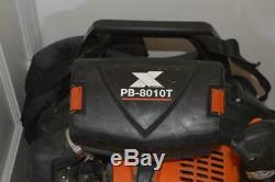 Echo Pb-8010t 79.9cc 211 Mph 1071 Cfm Sac À Dos Gaz Souffleuse Avec Le Tube D'accélérateur