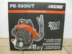 Echo Sac À Dos Gaz Souffleuse Pb-580ht 215 Mph 510 Cfm 58.2cc Cycle 2-temps