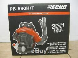 Echo Souffleur À Feuilles À Gaz À Dos Pb-580ht 215 Mph 510 Cfm 58.2cc Cycle À 2 Temps