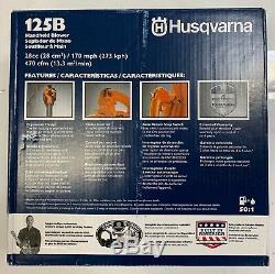 Husqvarna 125b 28 CC 2-cycle 170 Mph À Main À Essence Souffleuse Nouveau