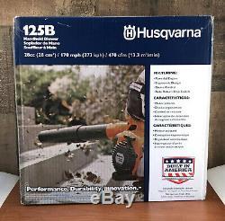 Husqvarna 125b 28 CC 2-cycle 170 Mph À Main À Essence Souffleuse Nouvelle Et Scellée