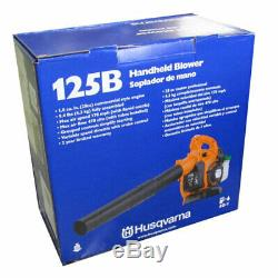 Husqvarna 125b 28cc 170 Mph Gaz Handheld Feuilles / Herbe Souffleur 2 Cycle 425 Cfm