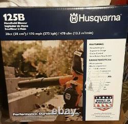 Husqvarna 125b 28cc 2cycle 170 Mph 470 Cfm Flacon À Gaz (952711925) Marque Nouveau