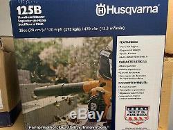 Husqvarna 125b À Main Souffleuse, Mieux Que Stihl Bg50