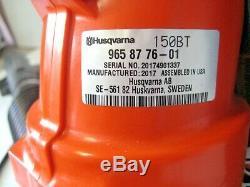 Husqvarna 150bt 50cc 2 Cycle Gas Feuille Souffleur À Dos Boîte Ouverte