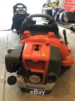 Husqvarna 350bt 50cc Gas Powered Sac À Dos 180 Mph Souffleuse Fonctionne Parfaitement
