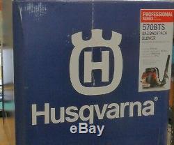 Husqvarna 570bts 2-cycle Sac À Dos Gaz Souffleuse Nouveau Ouvert Box Livraison Gratuite