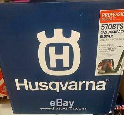 Husqvarna 570bts Gaz Souffleuse 570bts 2 Cycle De Cour Sac À Dos Flambant Neuf Herbe