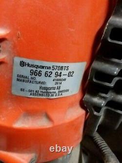 Husqvarna 570bts Puissant X-torq Professional Gas Backpack Leaf Blower