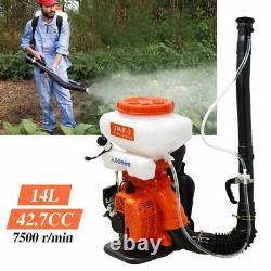Insecticide À Gaz Ulv De 3en1 Sprayeur À Dos De Poche Déclencheur De Feuille 3.5 Gallon